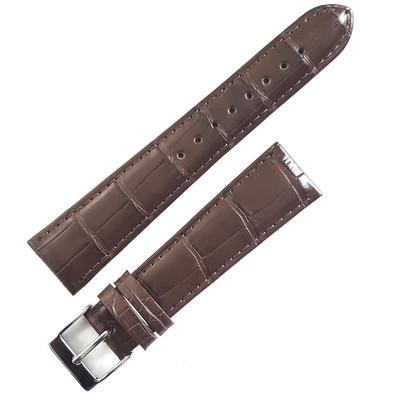 55b195cc6 ... Dunthorp Statesman Dark Brown Alligator Watch Strap - Image 3; Dunthorp  Statesman Black ...
