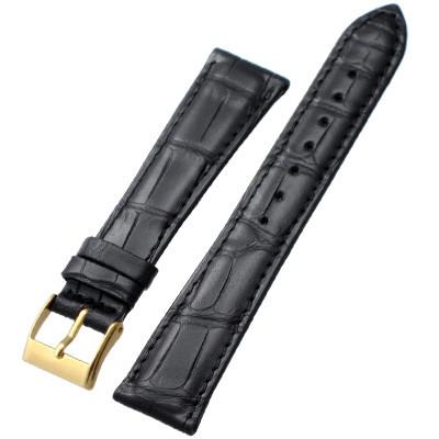 66e5d5cc5 ... Dunthorp Statesman Black Alligator Watch Strap - Image 3 ...