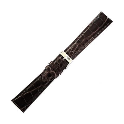 Dunthorp Dark Brown Ambassador Genuine Alligator Watch Strap