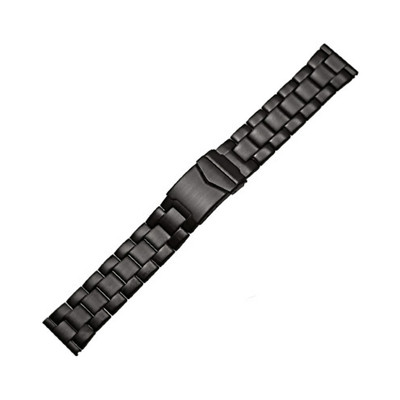 Black Massive PVD Stainless Steel Watch Bracelet