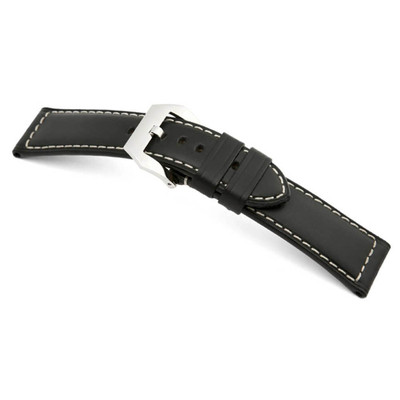 Black RIOS1931 Firenze, Genuine Russian Leather Watch Band for Panerai | TheWatchPrince.com