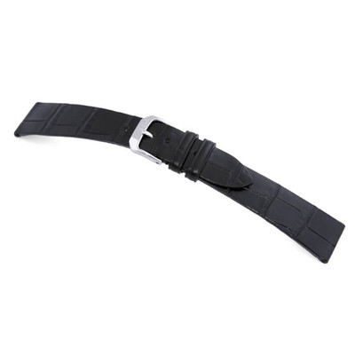 Black RIOS1931 Zurich, Genuine Alligator, Stitchless Watch Band for Patek Philippe | TheWatchPrince.com