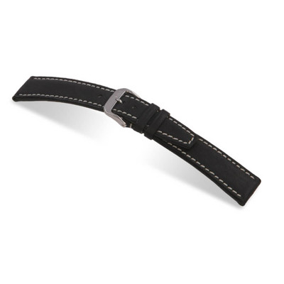 Black RIOS1931 Havana, Pigskin Leather Watch Band | TheWatchPrince.com