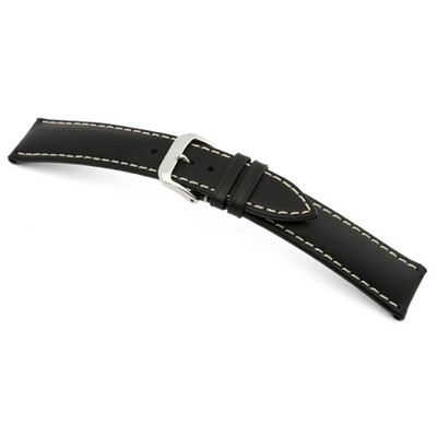 Black RIOS1931 St. Petersburg, Russian Leather Watch Band | TheWatchPrince.com