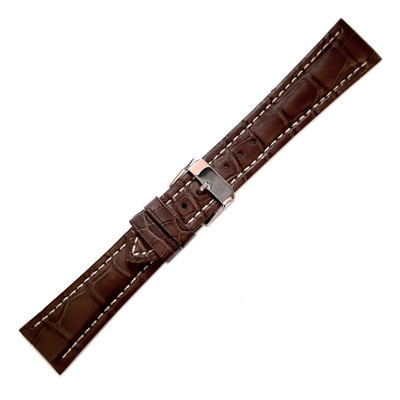 Chestnut Hadley-Roma Matte Alligator for Breitling (MS2006)