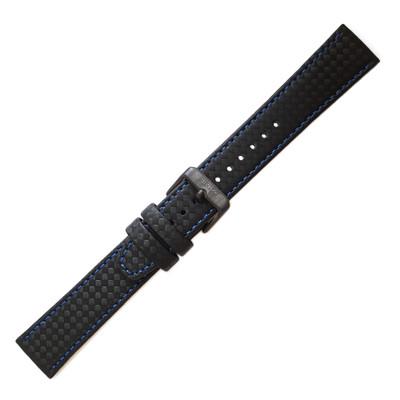 Seiko Carbon Fiber, 20mm (Blue Stitch, 30242MY)