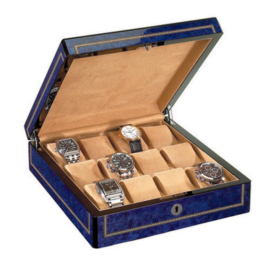 Venlo Blue Collection (12 Watch Case)