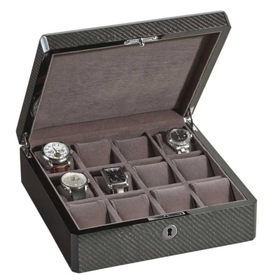 Carbon Fiber Watch Box | For 12 Watches
