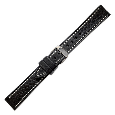 Black Hadley-Roma Shrunken Grain Leather (MS894)