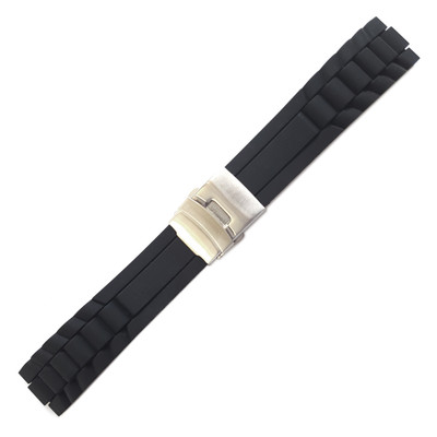 Oyster-Style Silicone Diver w/Deploy (Stuller)