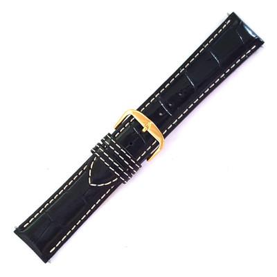 Black Alligator-Grain Embossed Leather (Stuller)
