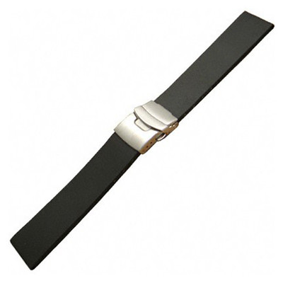 "Black Model ""300L"" - Premium Italian Rubber (Bonetto Cinturini)"