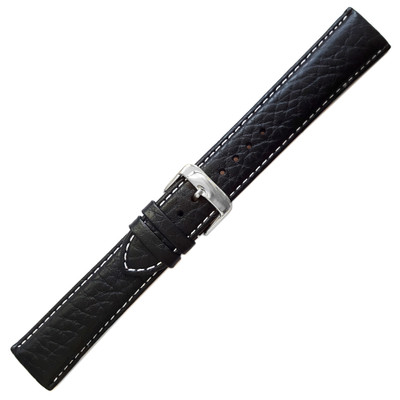 Black Sport Leather, Contrast Stitching (de Beer)