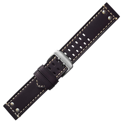 Leather with Rivets, for Luminox - Black