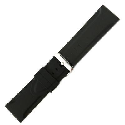 Black Genuine Rubber, Wide Diver (HR-MS3377)