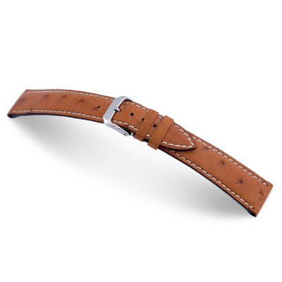 Cognac RIOS1931 Maxime | Genuine Ostrich Watch Band for Jaeger le Coultre | TheWatchPrince.com