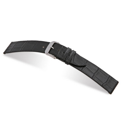 Black RIOS1931 Miami, Embossed Alligator Leather Watch Band | TheWatchPrince.com