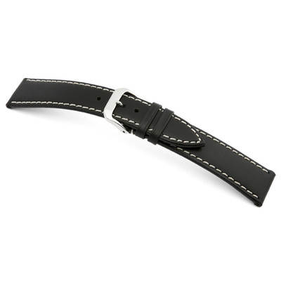 Black RIOS1931 Pensa, Russian Leather Watch Band | TheWatchPrince.com