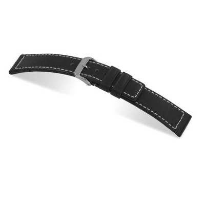 Black RIOS1931 Mariner, Water Resistant Leather Watch Band | TheWatchPrince.com