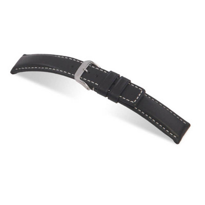 Black RIOS1931 Submariner, Water Resistant Leather Watch Band | TheWatchPrince.com