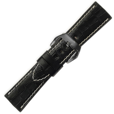 Black Genuine Alligator, Matte, for Panerai Radiomir (RIOS1931) | The Watch Prince