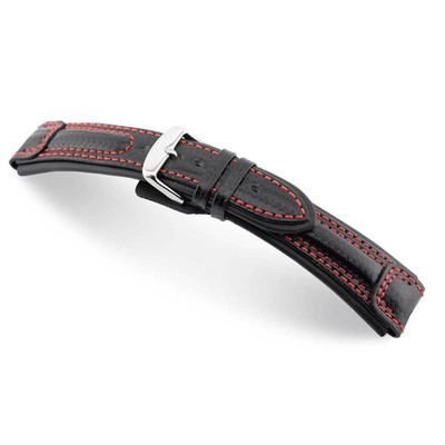 Black RIOS1931 Monza, Carbon Sport Watch Band | TheWatchPrince.com