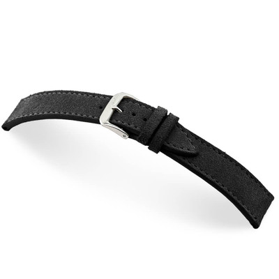 Black RIOS1931 Franklin, Velours Watch Band | TheWatchPrince.com