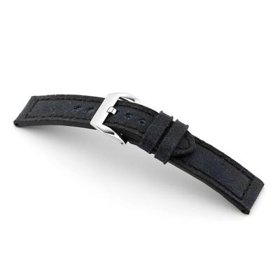 Black RIOS1931 Maryland, Genuine Canvas Watch Band | TheWatchPrince.com