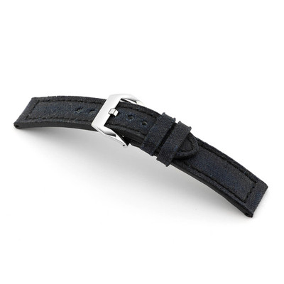 Black RIOS1931 Maryland, Genuine Canvas Watch Band | TheWatchPrince.com