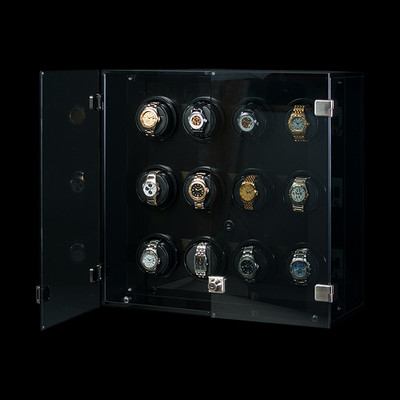Milano, Smoked Acrylic | Watch Winder | For 12 Watches