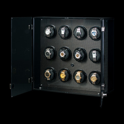 Milano, Carbon Fiber | Watch Winder | For 12 Watches