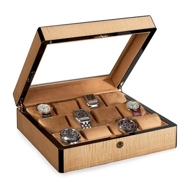 Venlo Blond | Wooden Watch Box with Display Window | for 12 Watches