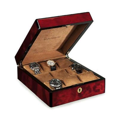 Venlo Triple Burlwood | Wooden Watch Box | for 9 Watches