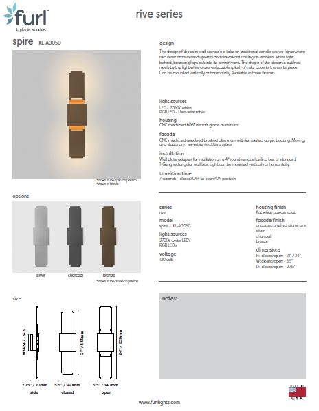 Spire wall sconce PDF capture