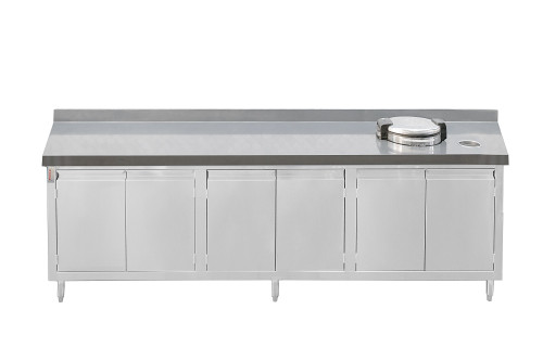 Custom Back Counter with Drop In Rice Warmer