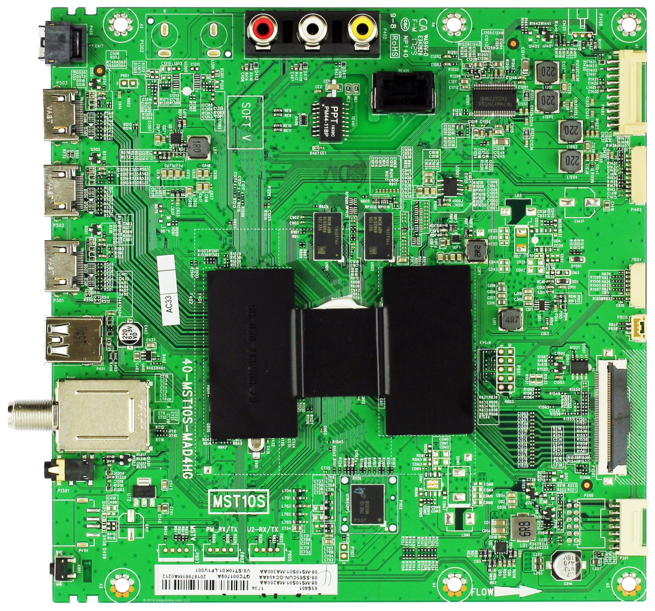 1903GT 08-CS65CUN-OC409AA 40-MST10F-MAA2HG S//N: 1909GT 08-SS65CUN-OC412AA Compatible for TCL 65S421 Main Board or or 1902GT