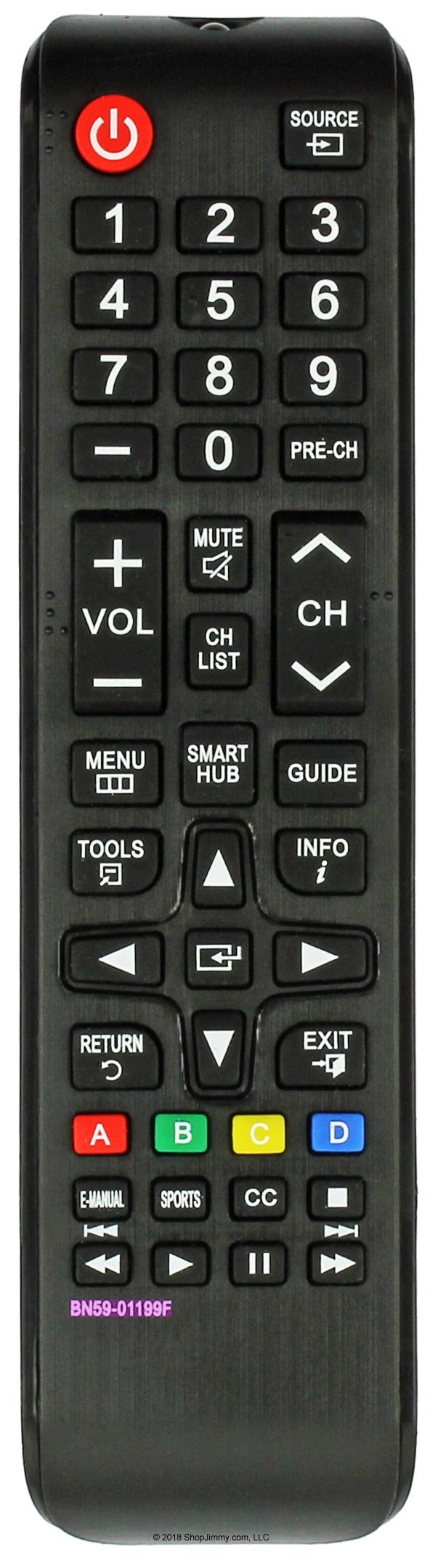 Ersatz Fernbedienung passend für Samsung UE55J6200UE55J6240UE55J6250
