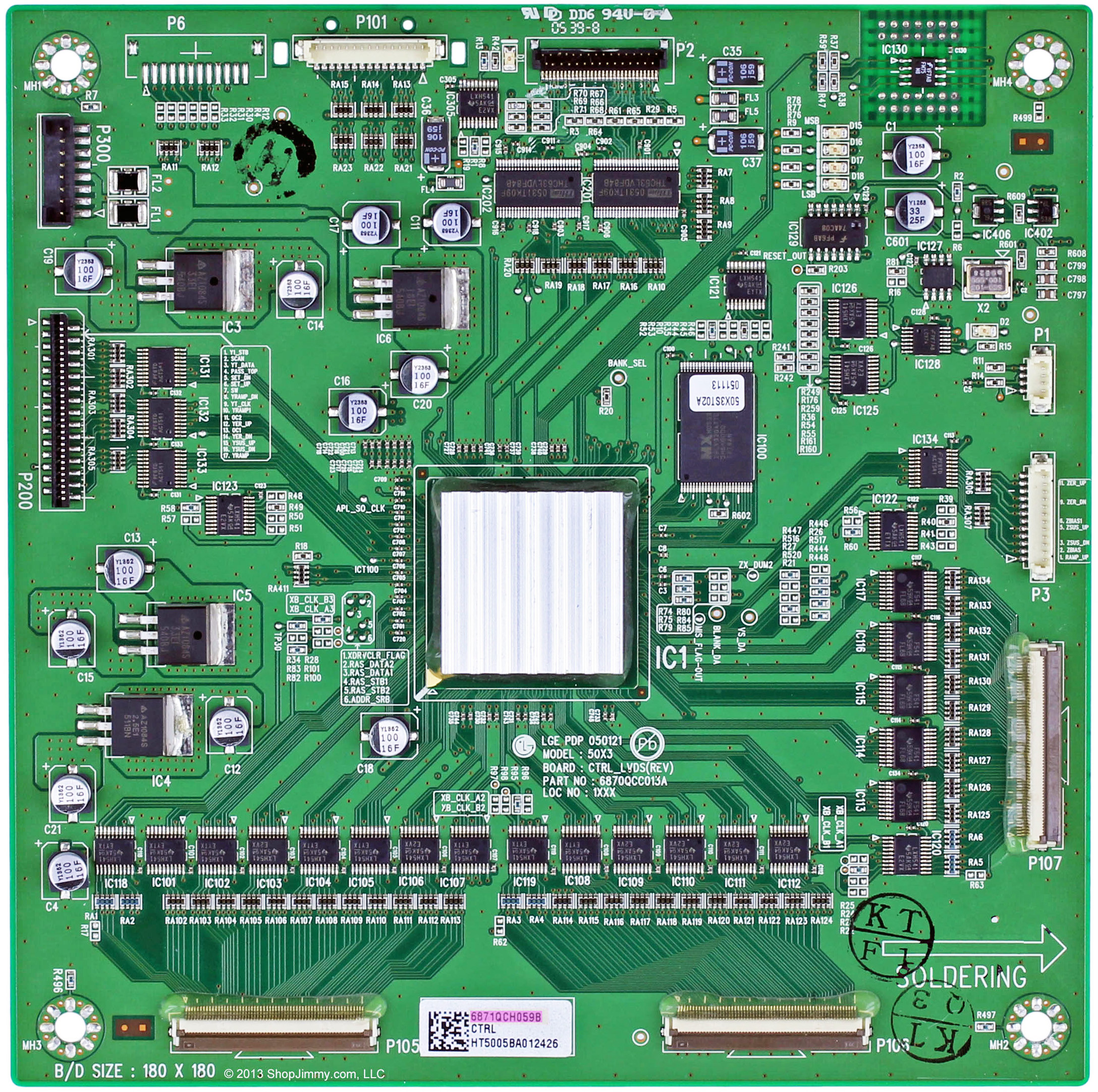 6870QCC113A, 6870QCC013A LG 6871QCH059B MAIN LOGIC CTRL BOARD FOR 50PY2DR
