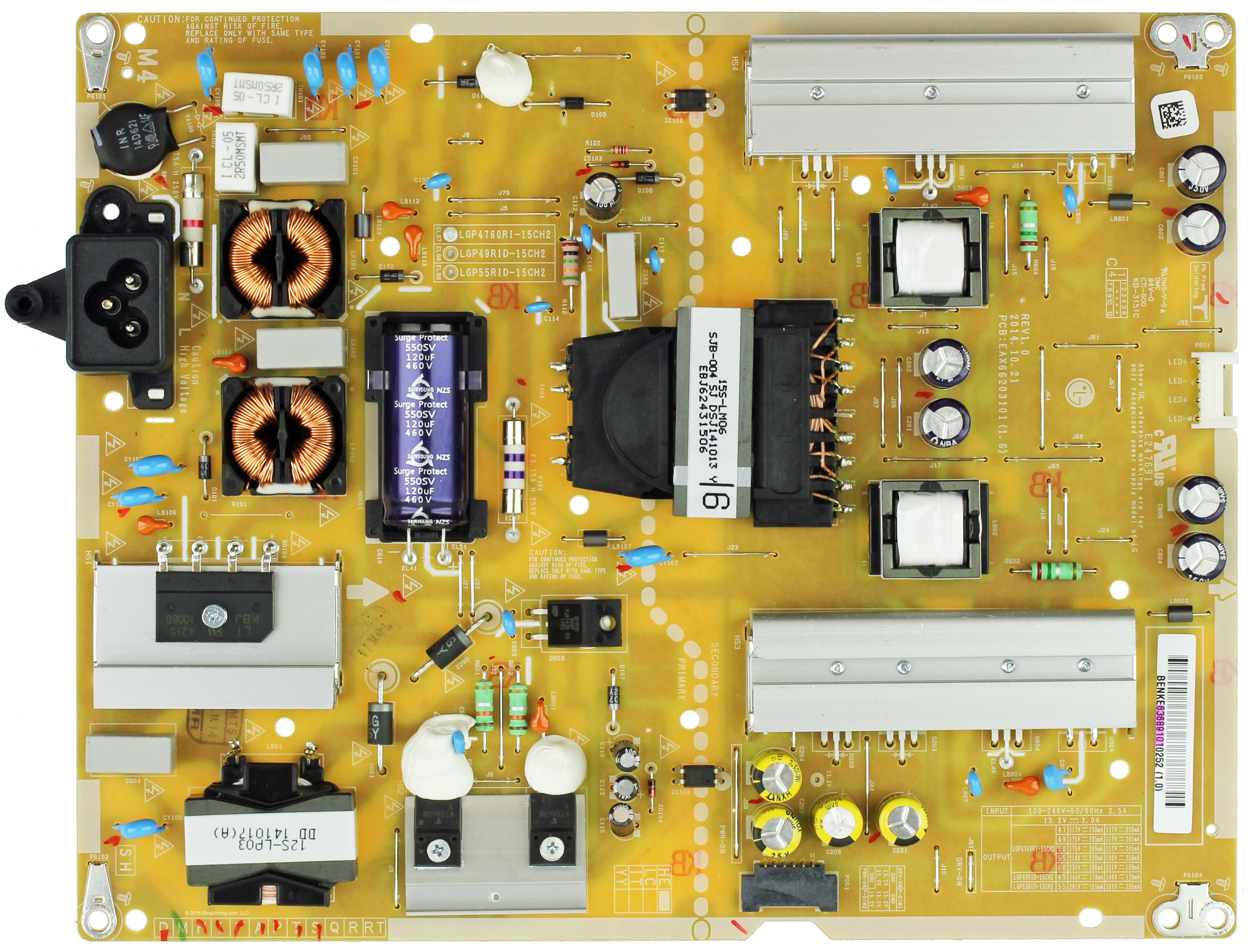 LG EAY64928801 Power Supply//LED Board for 65UK6300