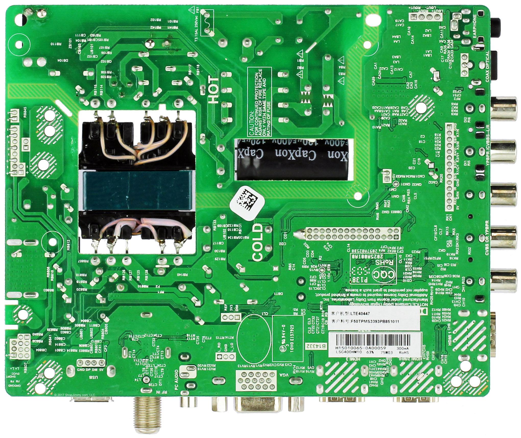 Element ELEFW408 U6 EEPROM ONLY 34015189 Main Board//PSU Loc P5G5M Serial