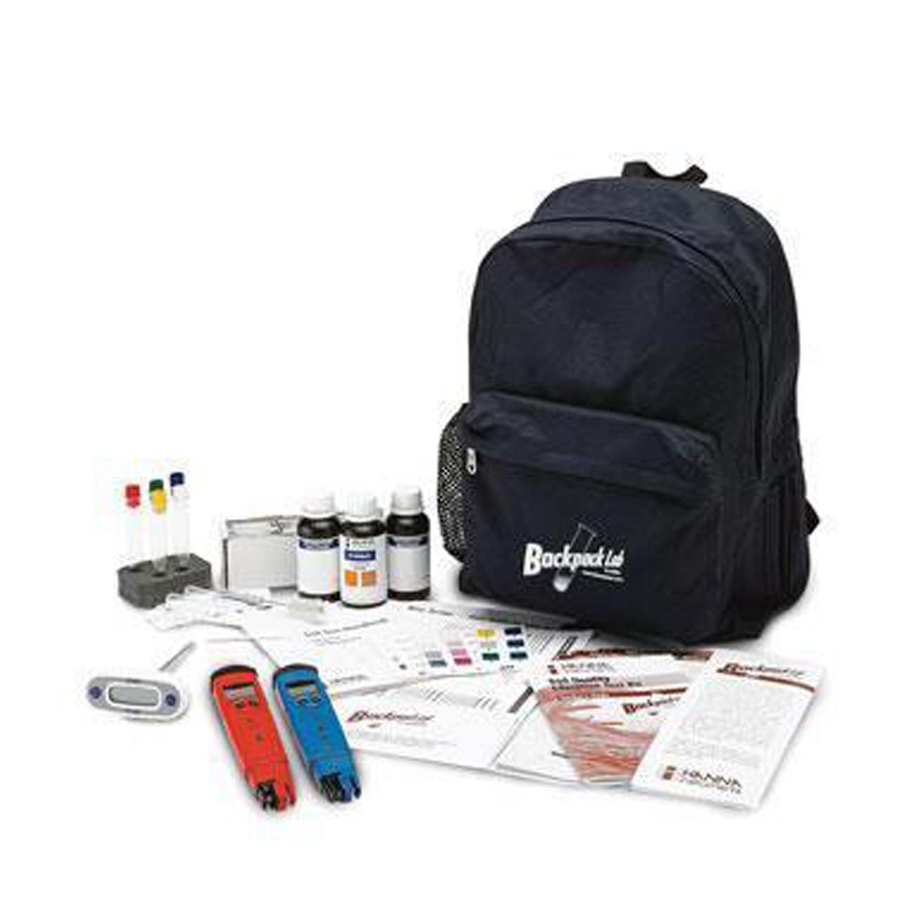 Backpack Lab soil quality education test kit