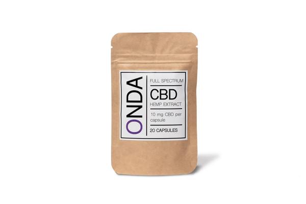 CBD Oil | Hemp Extract ONDA Wellness Full Spectrum Hemp Extract  10 mg CBD Capsules 20 Capsule Package