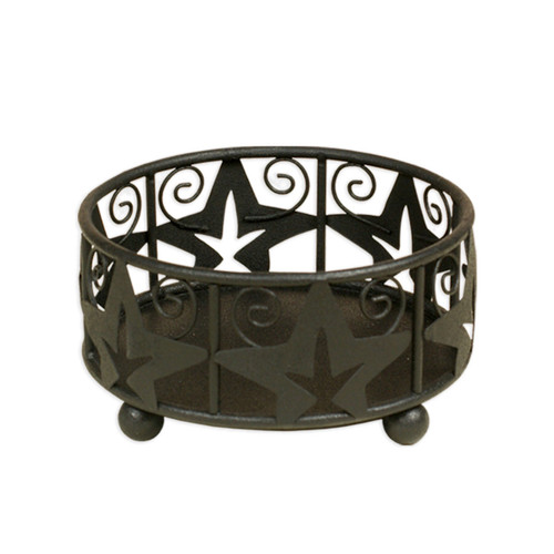 Small  Black Ivy Candle Holder