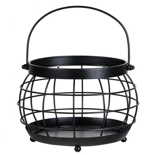 Large Black Homestead Globe Candle Holder