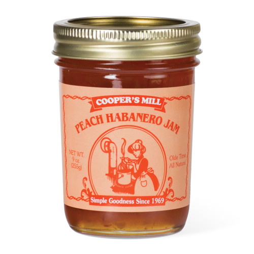 Peach Habanero Jam - Half Pint