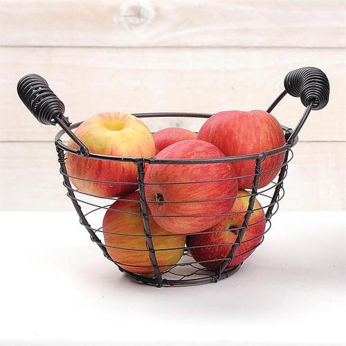 Round Wire Basket With Handles