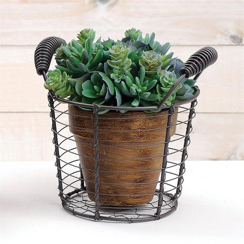 Tall Wire Basket With Handles