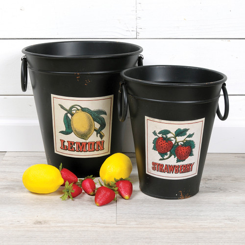 Strawberry Metal Container