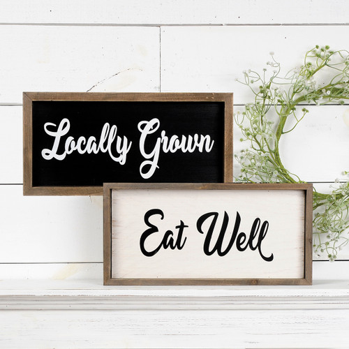 Eat Well/Locally Grown – Two-Sided Ledge Sign