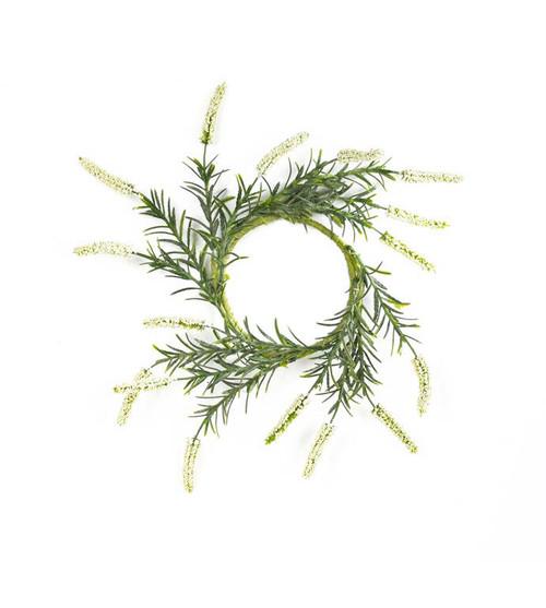 "White Lavender Wreath, 12"""